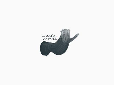 Marée Noire — Logotype ocean sea handwriting branding logo design
