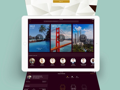 iPad App for a Check-In executive