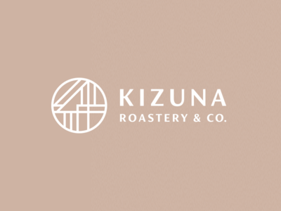 Kizuna Roastery & Co. japanese culture roastery coffee japanese japan process grid clean branding mark modern brand golden ratio logo