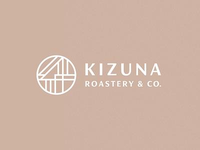 Kizuna Roastery & Co. japanese culture roastery coffee japanese japan process grid clean branding mark modern brand golden ratio logo