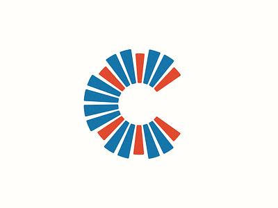 C Lettermark identity corporate abstract grid clean branding mark modern brand golden ratio logo