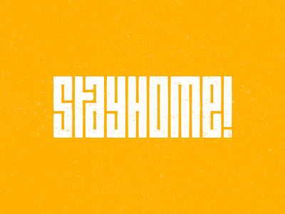 Save Lives, Stay Home quarantine covid19 covid wordmark illustration design grid modern brand golden ratio logo