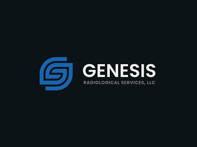 Genesis process abstract monogram grid clean branding mark modern brand golden ratio logo