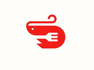 Shrimp process abstract grid clean branding mark modern brand golden ratio logo