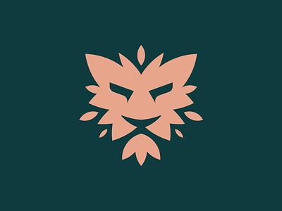 Leaf Lion Logo leaf lion logo modern brand mark clean logo grid corporate logo ornamental logo modern logo sleek logo lion logo royalty logo golden ratio