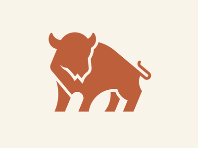 Bison design abstract grid clean branding mark modern brand golden ratio logo