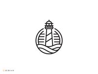 Lighthouse Line Art Logo - For Sale