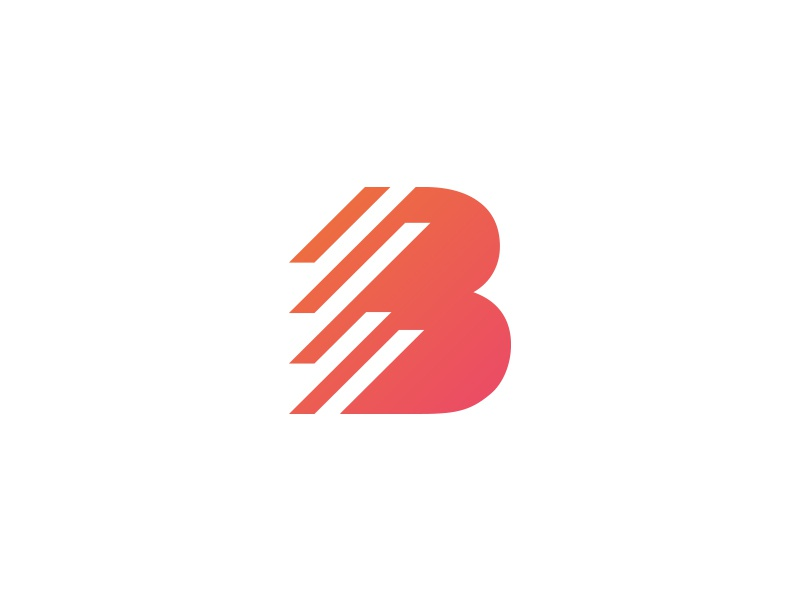 B Blinds Logo process brand golden ratio logo