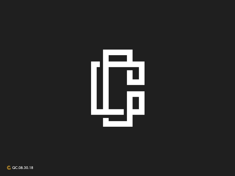 C Letterform icon c letterform abstract typography process modern brand monogram golden ratio logo