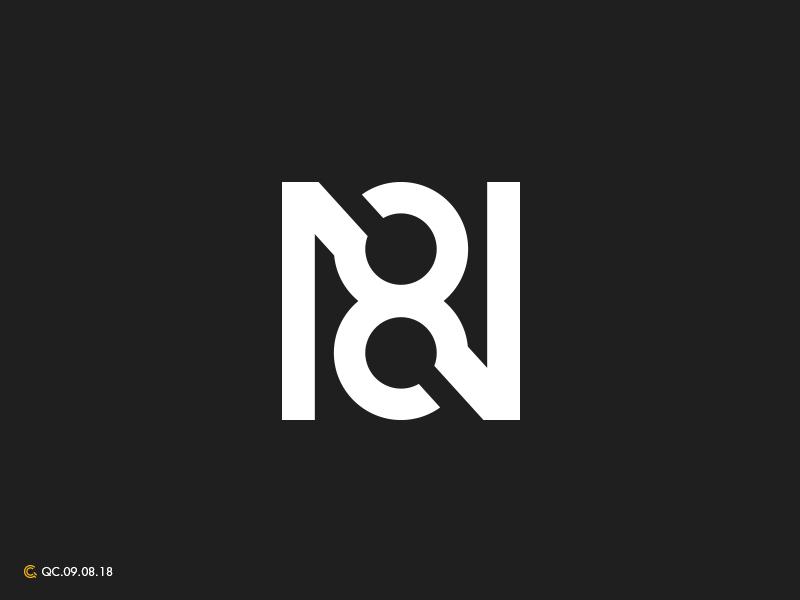 N8 8 n n8 mark branding modern monogram brand golden ratio logo