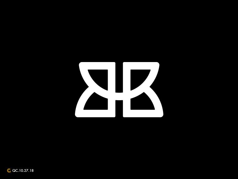 BB Monogram Logo typography bb clean grid branding process mark modern monogram brand golden ratio logo