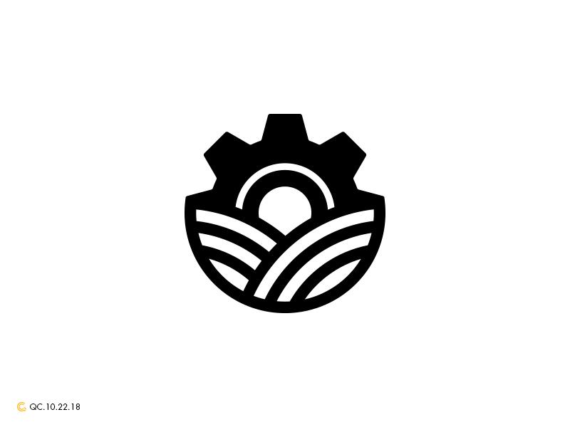 Gear Farm Logo clean grid branding mark modern brand golden ratio logo