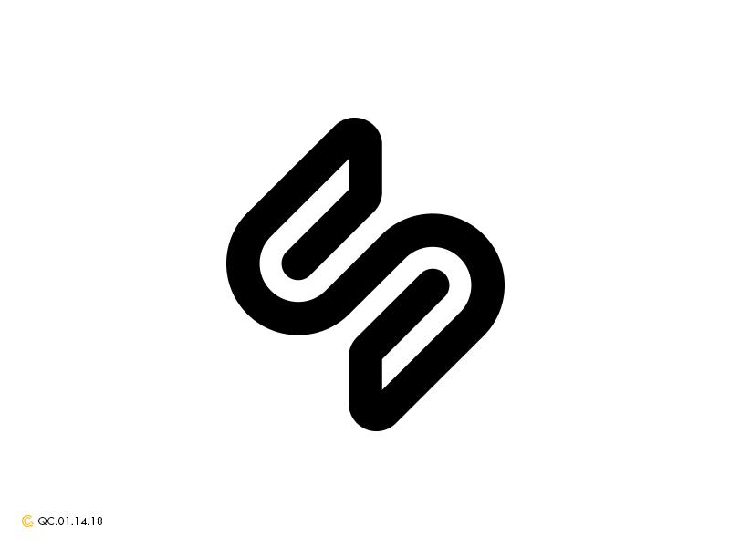 S Logo Illusion process branding monogram mark modern brand golden ratio logo