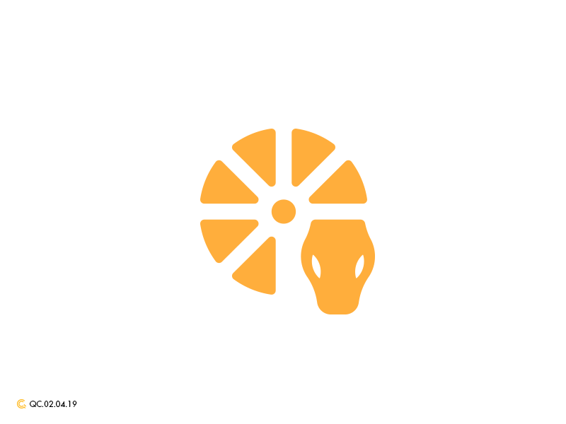 Citrus Serpent Logo orange python viper serpent snake mark branding modern brand golden ratio logo