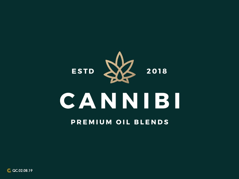 Cannabis Logo cannabis cbd branding mark modern brand golden ratio logo