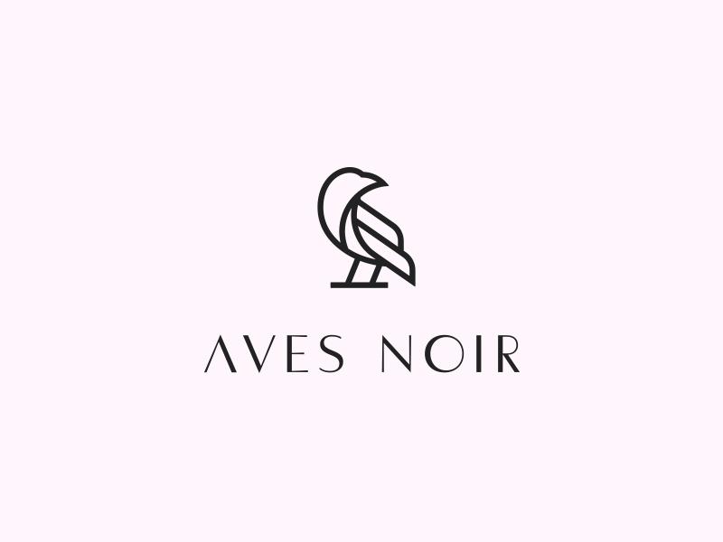 Aves Noir Logo