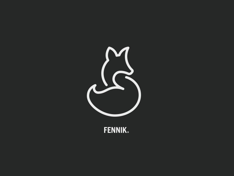 Fennik Logo fox abstract branding mark modern brand golden ratio logo