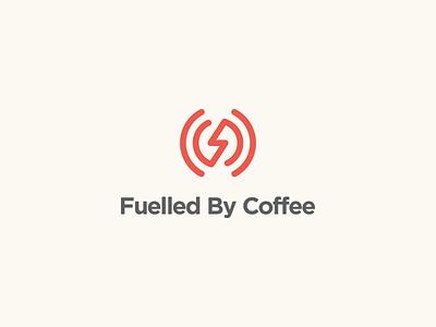 Fuelled By Coffee Podcast Logo podcast coffee monogram clean branding mark modern brand golden ratio logo