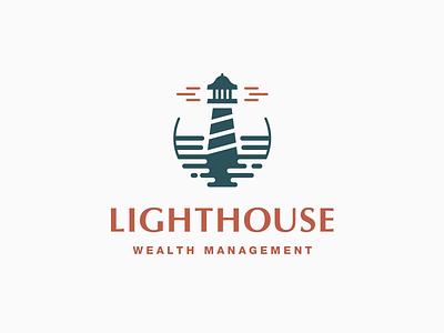 Lighthouse Logo corporate lighthouse process abstract grid clean branding mark modern brand golden ratio logo
