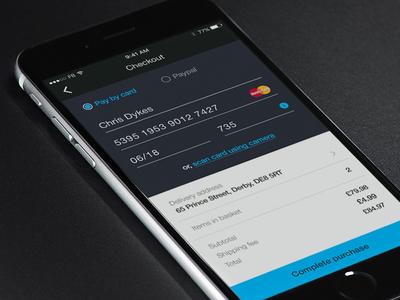 Dailyui 002 - Credit card checkout daily ui ui app iphone mobile checkout mobile ecommerce ecommerce checkout credit card dailyui 002 dailyui