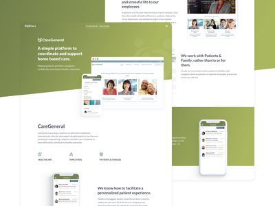 CareGeneral Case Study flatdesign cleandesign design gradien webapplication mobileapp ux uidesign bigbinary ui ux design casestudy website
