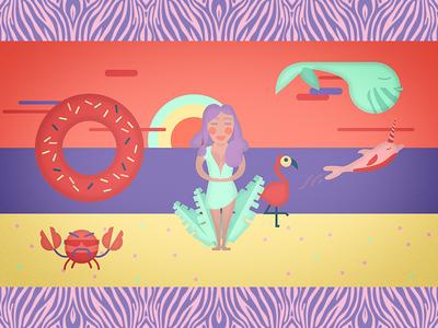 Girl at the Beach beach girl