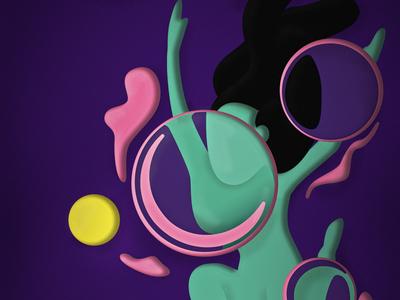 Bubble Girl illustration girl bubble