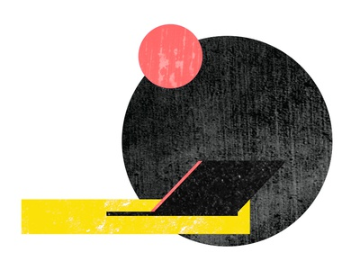 Simple Brochure Illustration graphic simple bauhaus abstract illustration