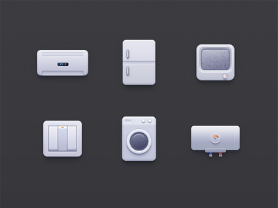 Domestic appliance appliances electric conditioner、washing ui、gui、icon、app、air