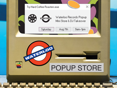 Waterloo Records Poster poster throwback retro