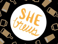 She Brews ATX  Branding