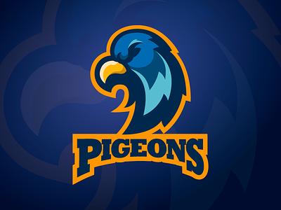 Pigeons mascot pigeon logo sport bird