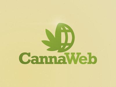 Canna Web green planet logo weed cannabis web canna