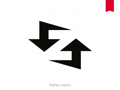 ZigZag  logistic smart arrow space negative logo