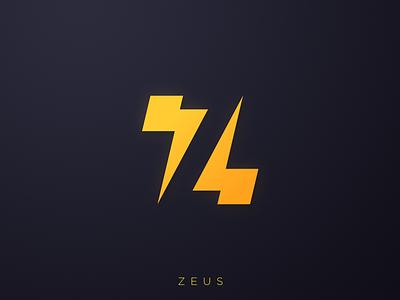 Z for Zeus logo negativespace zeus z lightning