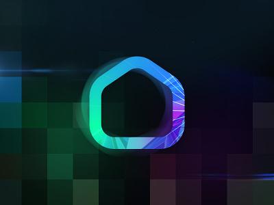House icon pixel house illustration app ui gradient logo