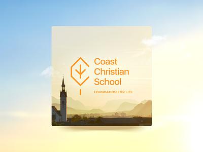 Foundation for Life interface uidesign shadow ui gradient school logo graphic design