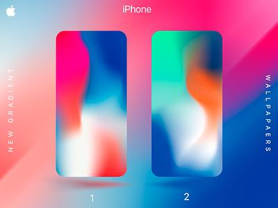iPhone Gradient Wallpapers ux ui wallpaper gradient apple ten iphone