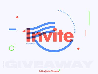 Invite dribbble abstract illustration type invitation branding design giveaway invite