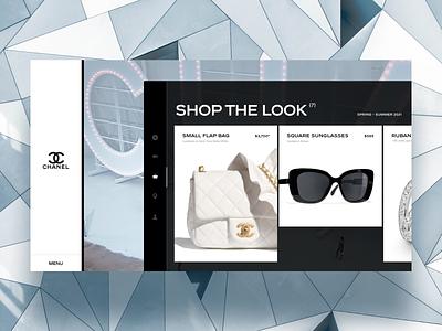 Chanel, Shop the Look design grid modern ui clean white shopping elegant sexy minimal luxury shop video chanel