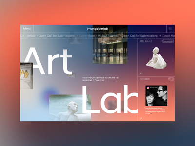 Hyundai Art Lab Concept modern artsy colorful grid chaotic