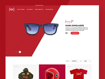 (RED) website redesign is live now! page product diagonal slant grid live website redesign red