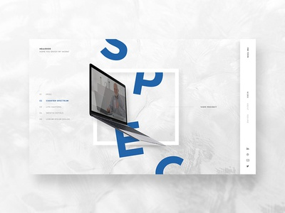 Portfolio Redesign portfolio website white grid geometric abstract sleek clean