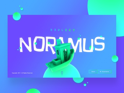 Explore Noramus Concept clean modern ui ship colors vibrant gradient