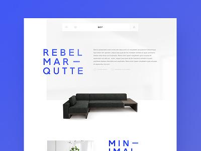Modern Furniture Concept Website white ui typography modern minimal furniture design clean