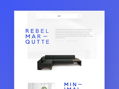 Modern Furniture Concept Website white ui typography modern minimal furniture design clean