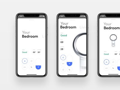 Dyson app redesign redesign design modern ui  ux dyson app control minimal app remote white and black white minimalistic minimal ui