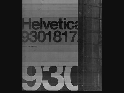 HELVETICA POSTER mark busch helvetica design