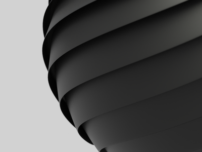 Sphere Abstract 3d art black brand abstract curves blender 3d
