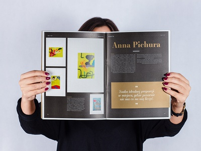 Magazine zine layout design grid magazine zine